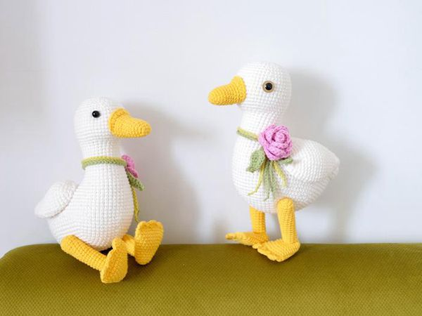 CROCHET Spring Duck Toy EASY PATTERN