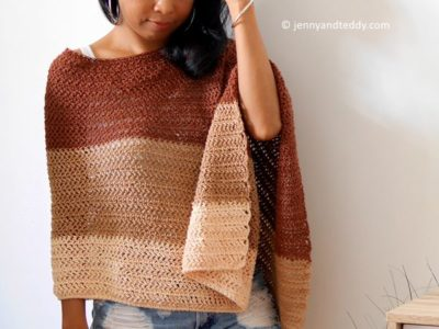 CROCHET cookie and cream poncho wrap FREE pattern