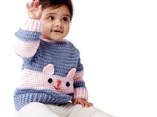 crochet CHARACTER SWEATERS free pattern