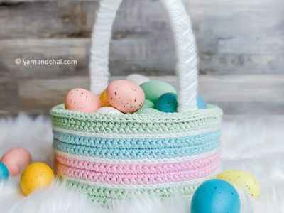 crochet Classic Easter Basket free pattern