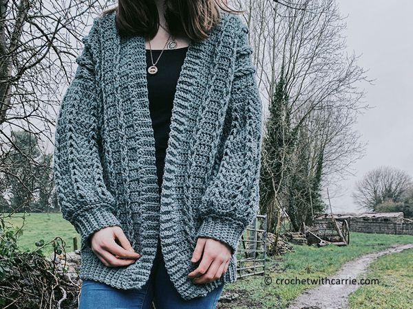 crochet Crochet Cable Cardigan free pattern