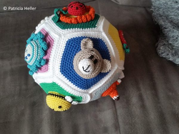 crochet Educational Baby Ball free pattern