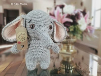 crochet Elton the Elephant free pattern