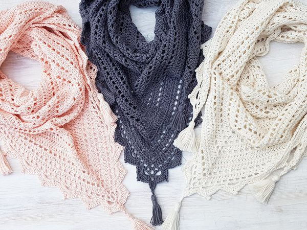 crochet Foxtrot Shawl free pattern