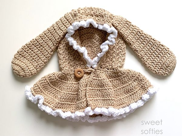 crochet Hooded Bunny Capelet free pattern