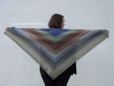 crochet Ice To Bloom Shawl free pattern