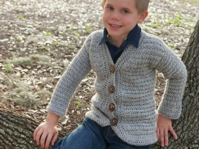 crochet Little Dude Cardigan easy pattern