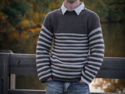 crochet Mens Upper Eastside Sweater easy pattern