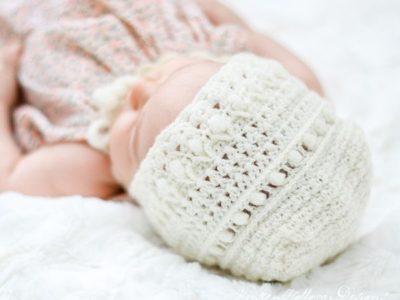 crochet Modern Classic Baby Bonnet free pattern