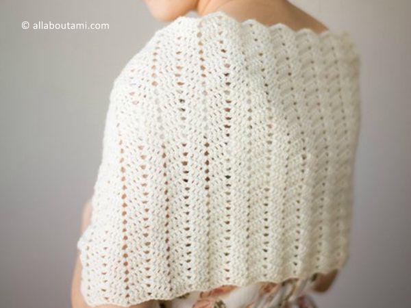 crochet Netherfield Scarf Wrap free pattern