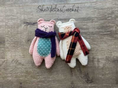 crochet Rag Doll Bear free pattern