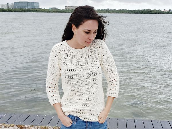 crochet Sawgrass Sweater free pattern