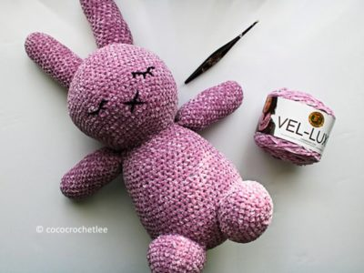 crochet Sleepy Mallow Bunny free pattern