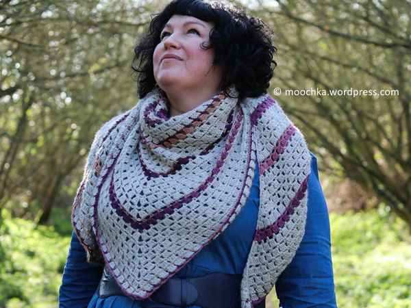 crochet Sparrow Shawl free pattern