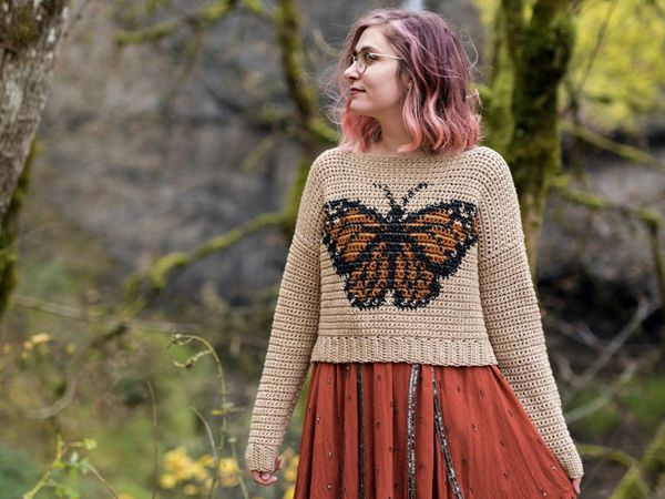 crochet The Monarch Sweater easy pattern