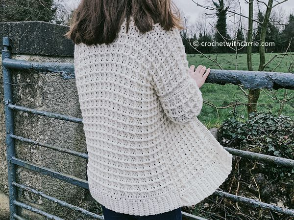 crochet The Roisin Cardigan free pattern