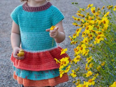 crochet Toddler Ruffle Sweater free pattern