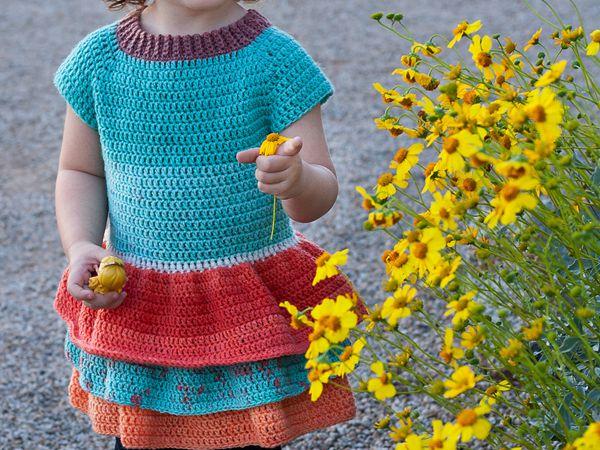 crochet Toddler Ruffle Sweater free pattern