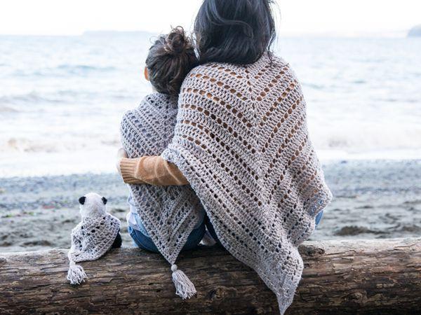 crochet Triangle Shawl free pattern