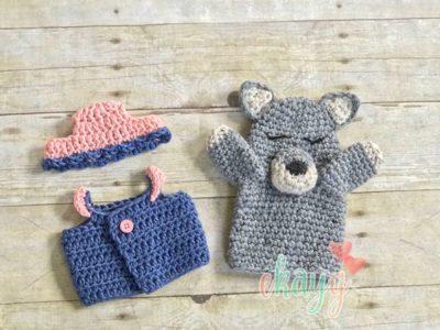 crochet Wolf Hand Puppet free pattern