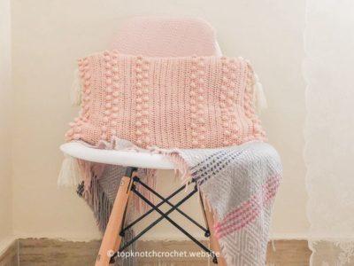 Bobble-licious Crochet Pillow free pattern