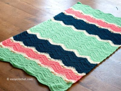 Clara Crochet Ripple Blanket free pattern