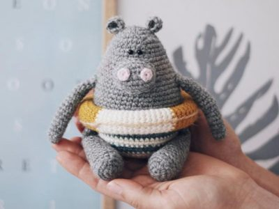 Crochet Hippo Amigurumi easy pattern