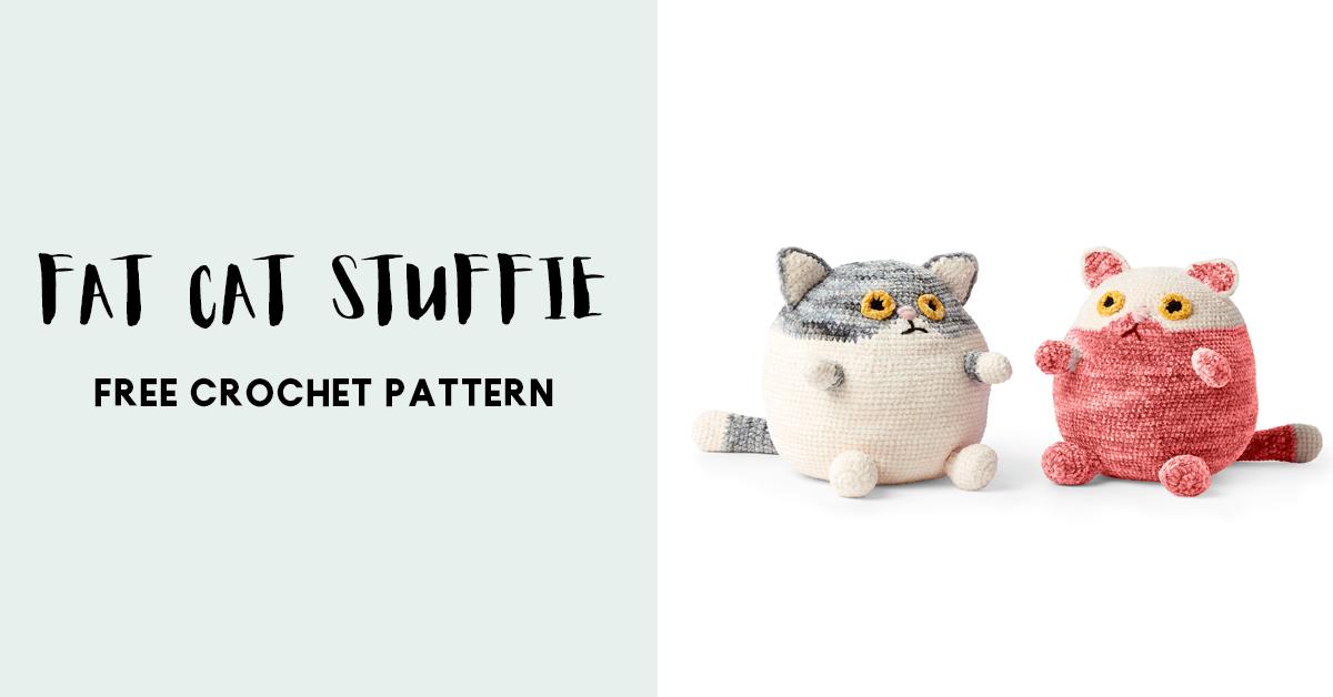 Crochet Fat Cat - amigurumi · Yarnover the Moon · Online Store ... | 628x1200