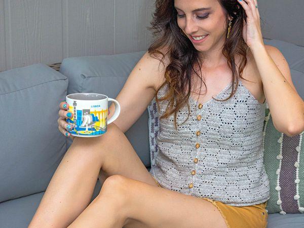 Honeycomb Crochet Tank Top easy pattern
