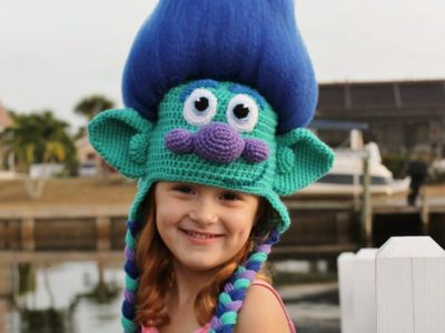 Trolls Happy Branch Crochet Hat easy pattern