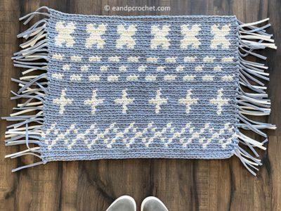 cochet T-Shirt Yarn Rug free pattern