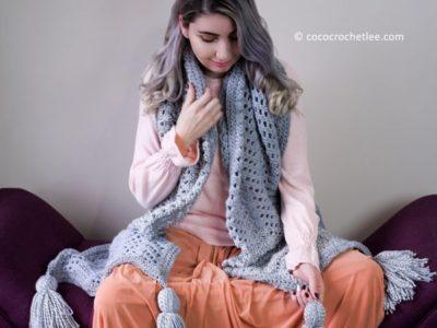 crochet Arctic Waves Crochet Scarf free pattern