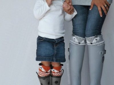 crochet Asher Fox Leg Warmer easy pattern