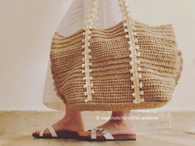 crochet Beach Bag free pattern