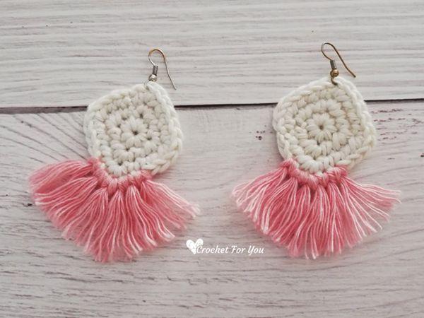 crochet Boho Style Earrings free pattern