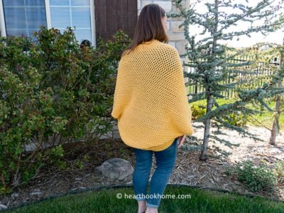crochet Cocoon Sweater free pattern