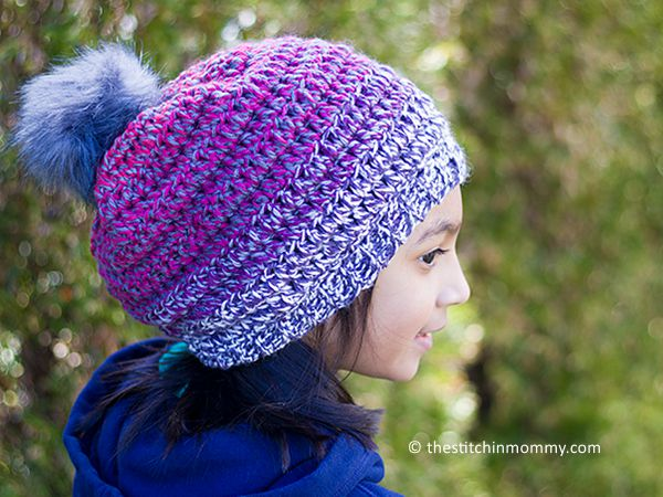 crochet Ellis Tweed Slouch Hat free pattern