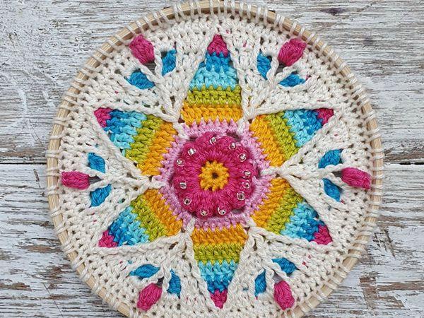 crochet Fancy Nancy Mandala free pattern