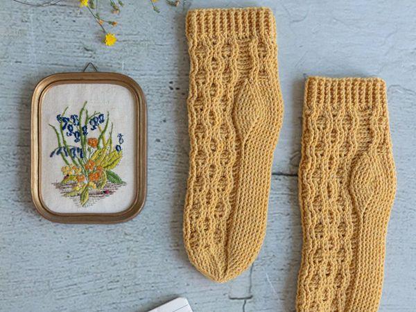 crochet Honeycomb Socks easy pattern