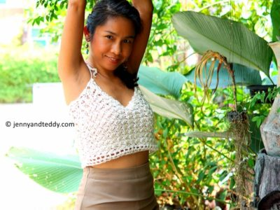 crochet Jasmine Rice Crop Top free pattern