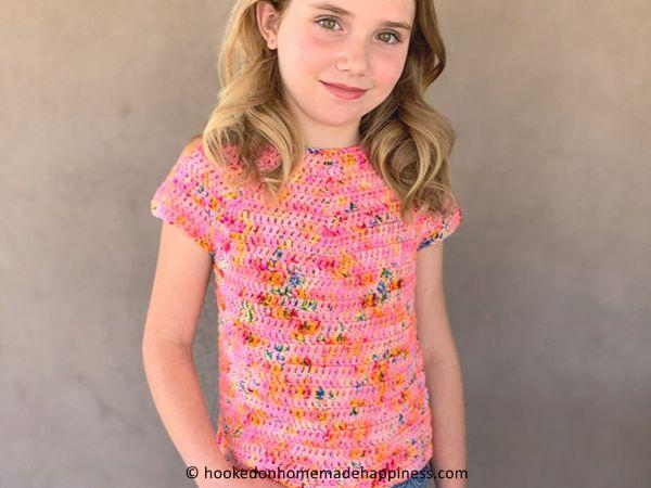 crochet Kids Basic Tee free pattern