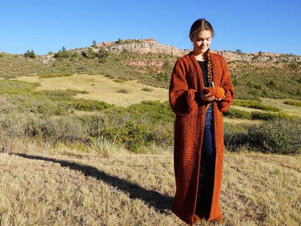 crochet Mountain Harvest Cardigan easy pattern