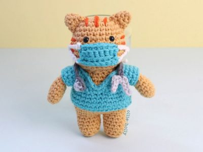 crochet Nurse Cat Amigurumi free pattern