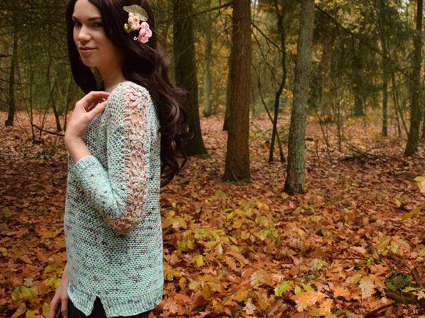 crochet Picking Flowers Sweater easy pattern