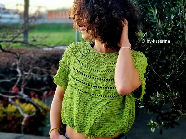 crochet Raw Green Tee free pattern