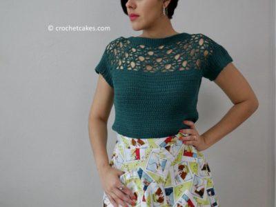 crochet Sumer Fan Top free pattern