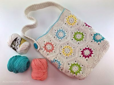 crochet Summer Retro Tote Bag free pattern