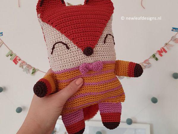 crochet THE FRIENDLY FOX free pattern