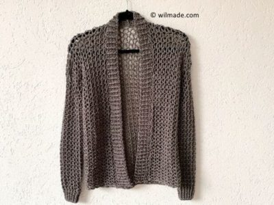 crochet TOUCH OF MERINO CARDIGAN free pattern