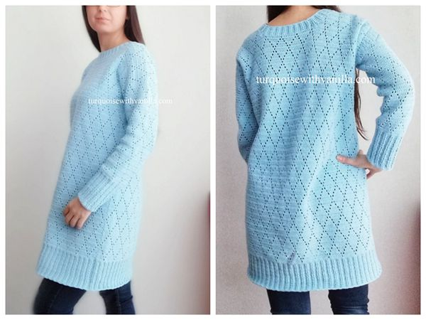 crochet The Diamond Dress free pattern